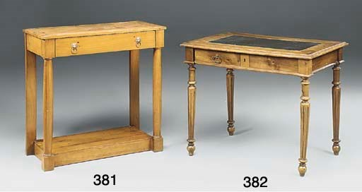 A FRENCH FRUITWOOD CONSOLE TAB