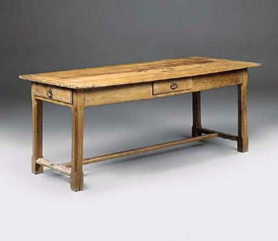 A FRENCH FRUITWOOD AND OAK FAR