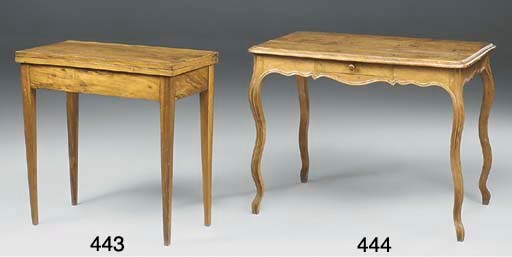 A FRENCH WALNUT CENTRE TABLE