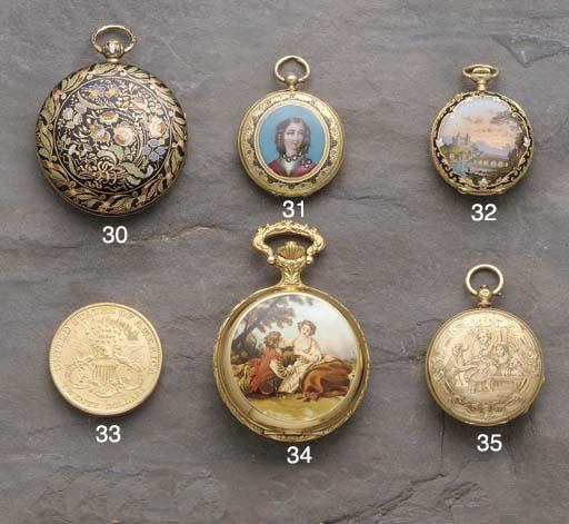 Courvoisier: A gold hunter pen
