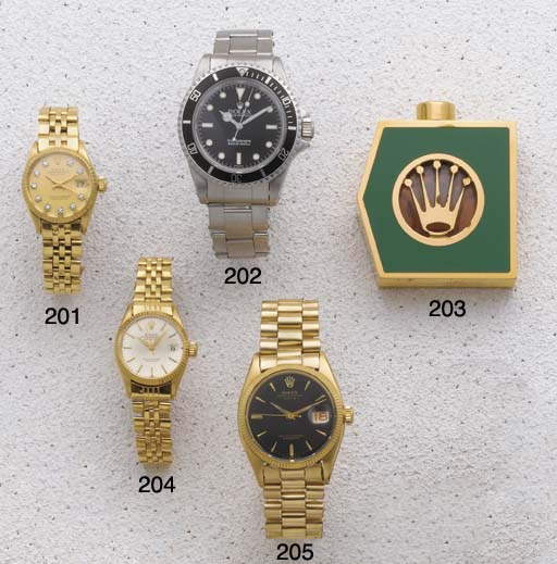 Rolex: A Gold Plated and Green