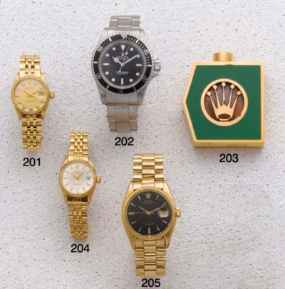 Rolex: An 18ct Gold Centre Sec