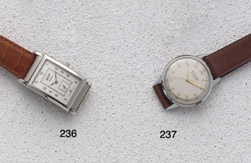 Tissot: A steel rectangular li