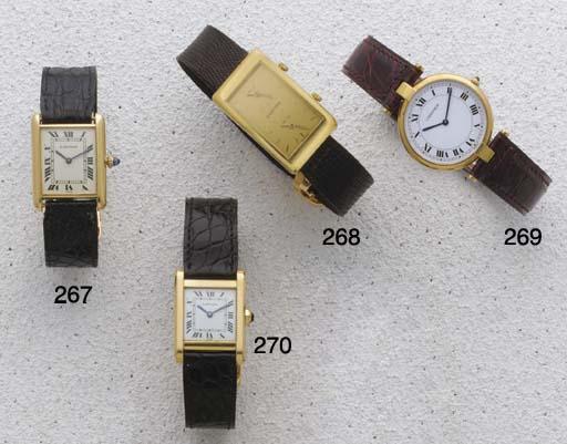 Cartier: An 18ct Gold Rectangu