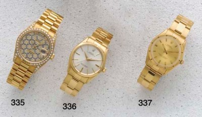 Rolex: An 18ct Gold Automatic