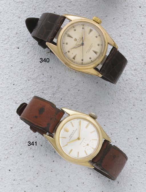 Rolex. A 9ct gold wristwatch