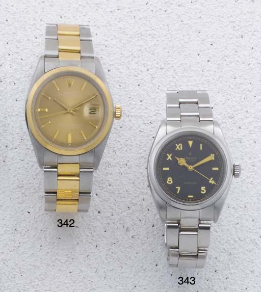 Rolex: A stainless steel wrist