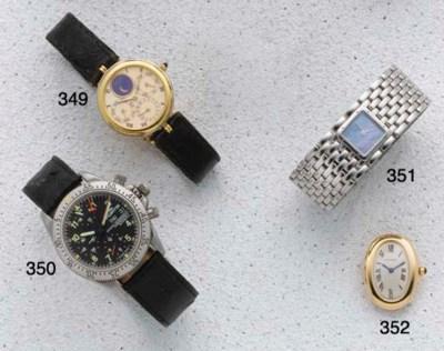 Cartier: An 18ct gold quartz w