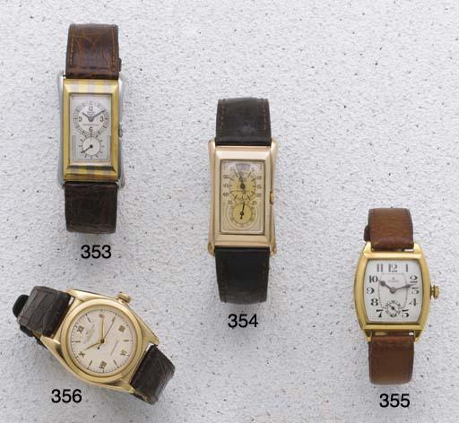 Rolex: An 18ct Gold Tonneau Wr