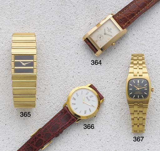 Omega: A Ladies 18ct Gold Auto