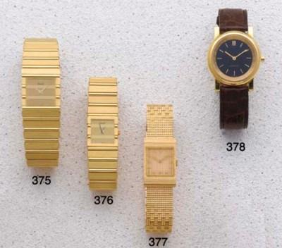 Piaget: An 18ct Gold Quartz Br