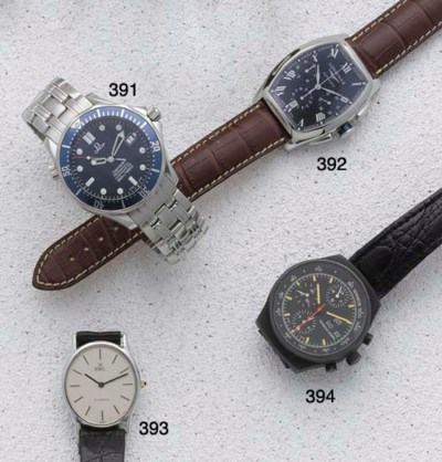 Omega: A steel wristwatch sign