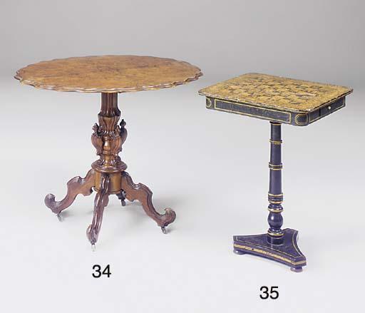 A Regency penwork games table