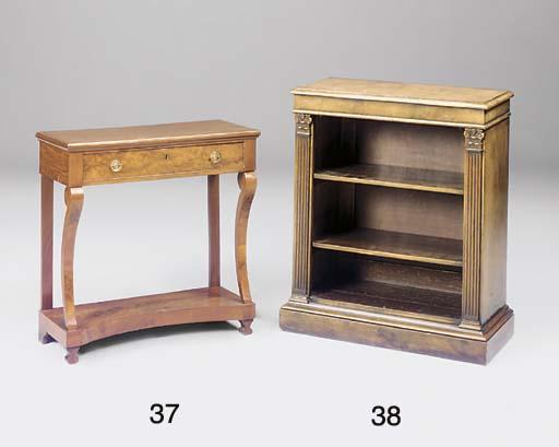 A French mahogany console tabl