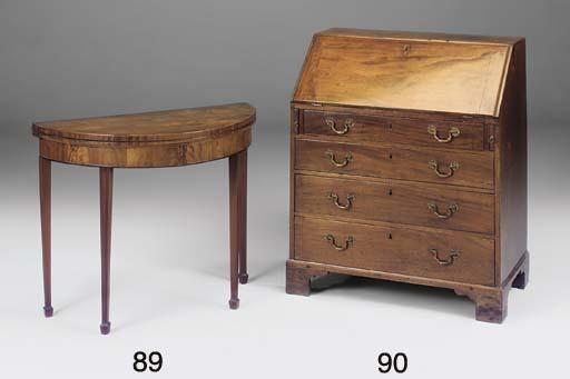 A mahogany bureau