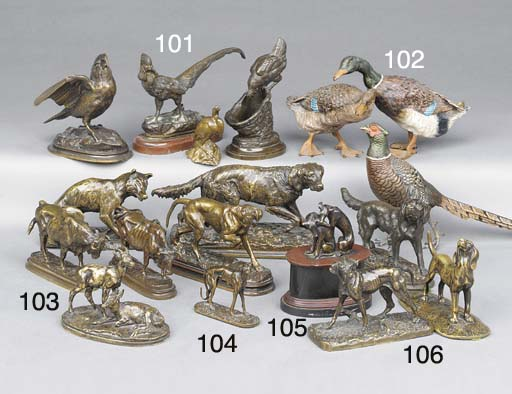 Two French bronze animaliers m
