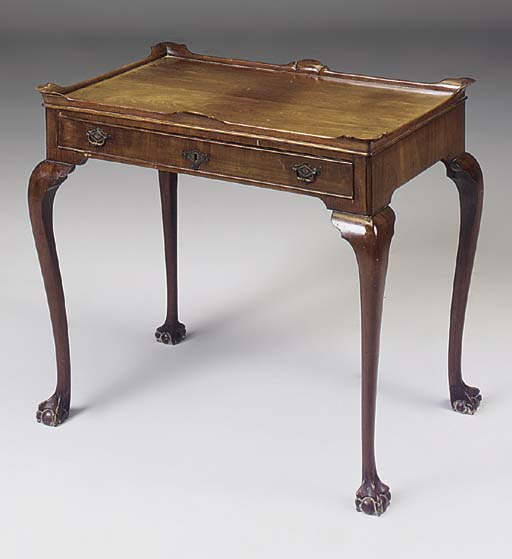 A DUTCH MAHOGANY SILVER TABLE