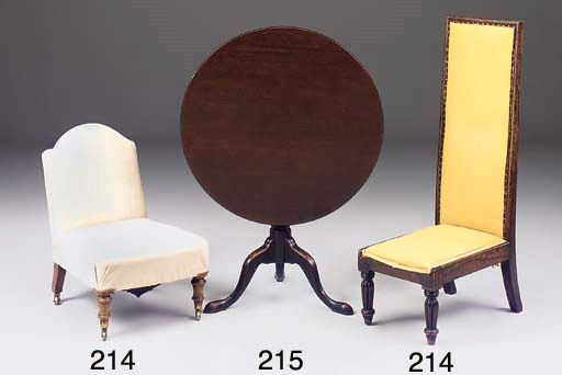 A VICTORIAN WALNUT AND SUEDE L