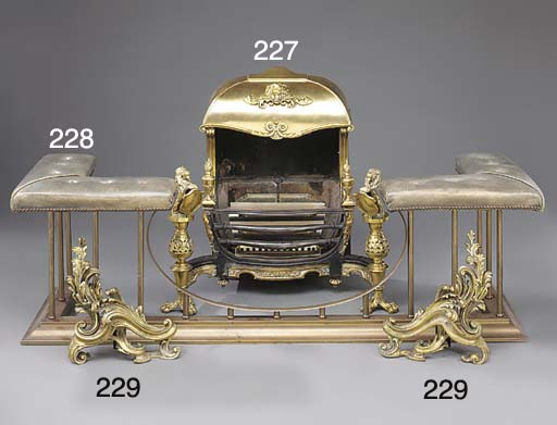 A pair of French gilt bronze c