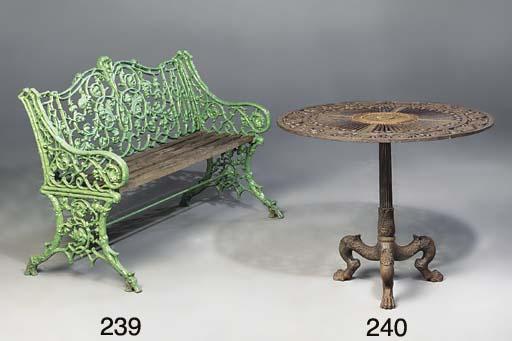 A cast iron table
