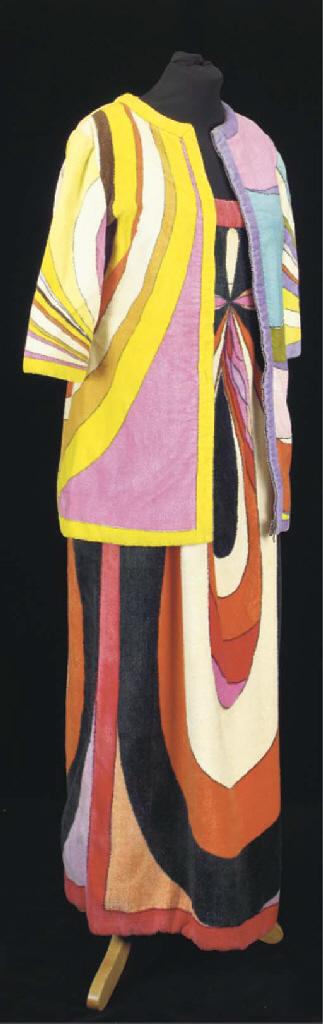A towelling beach dress, print