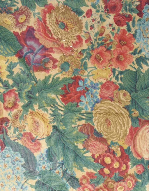 A collection of chintz panels,