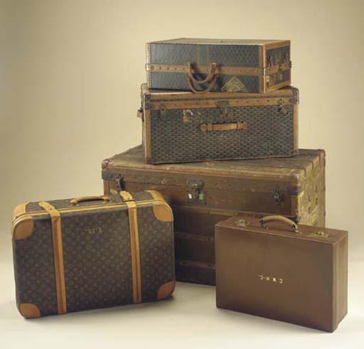 A Louis Vuitton soft suitcase,