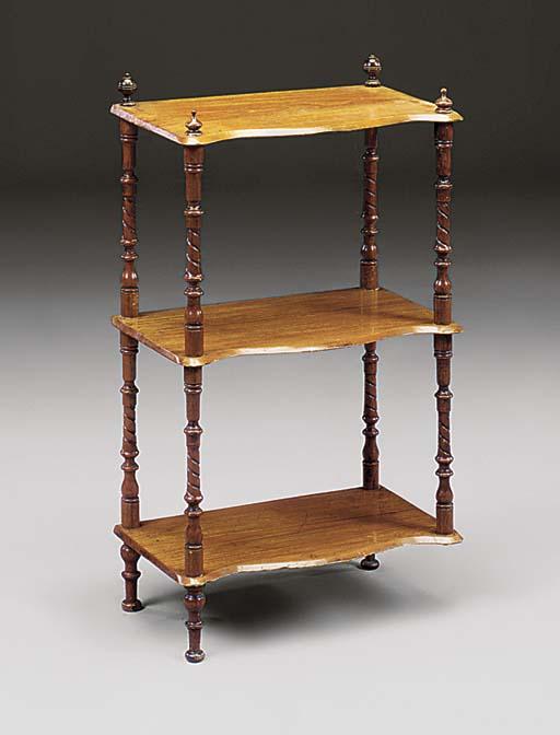 A Victorian mahogany whatnot