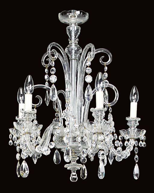 A Continental glass five light