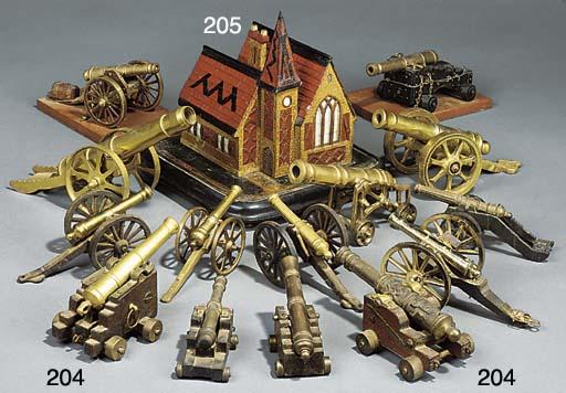 Fourteen various brass, iron a