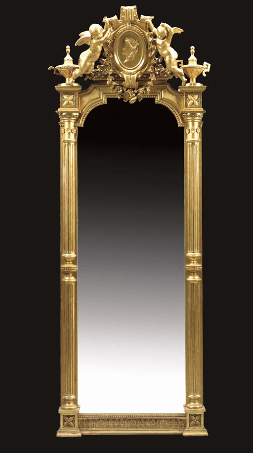 A SWEDISH GILTWOOD AND COMPOSI