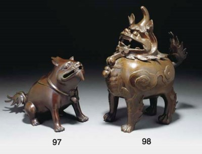 A Chinese bronze censer in the