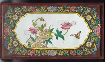 A Canton enamel plaque, 18/19t