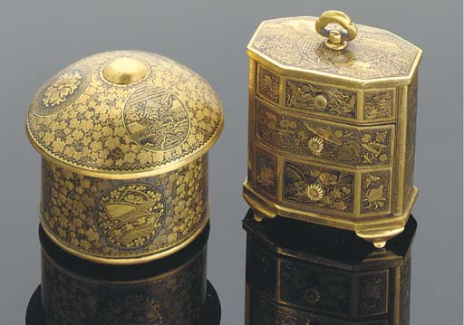 A miniature Komai chest of dra