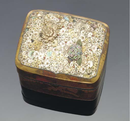 A Japanese Shibayama-style box