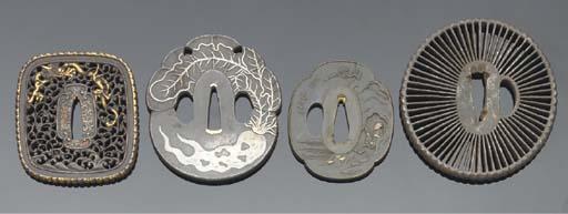 Eight Japanese tsuba, 18th cen