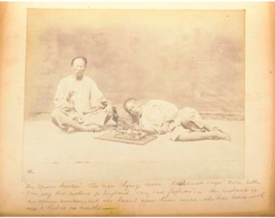 A scrap book containing Chines