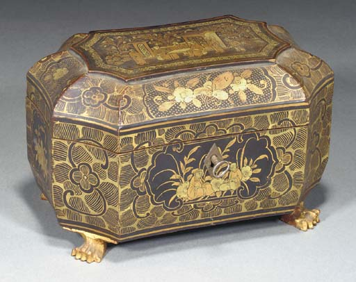 A Chinese export lacquer teaca
