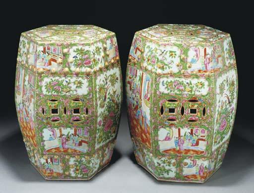 A pair of Cantonese hexagonal