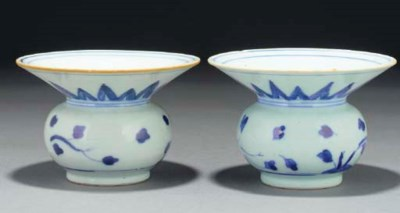 Two Chinese Nanking Cargo blue