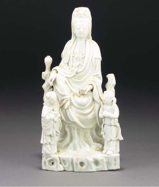 A Chinese blanc de chine Guany
