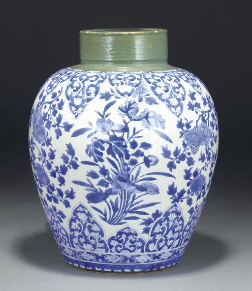 A Chinese blue and white taper
