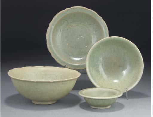 A Chinese celadon glazed bowl,