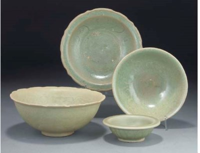 A Chinese celadon glazed bowl,