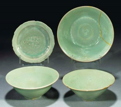 An inlaid celadon Korean bowl,