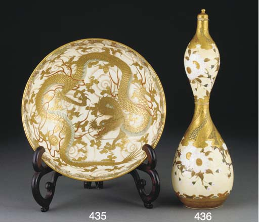 A Japanese Satsuma bowl, Meiji