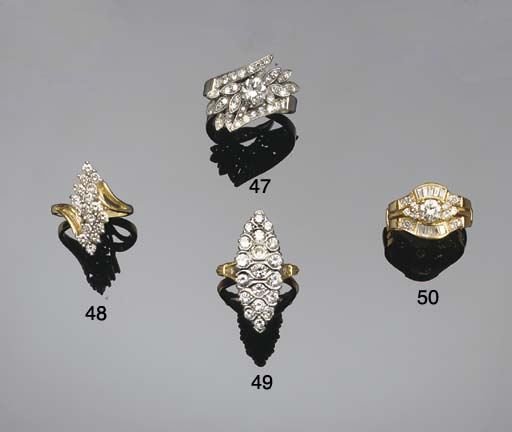 A brilliant-cut diamond ring