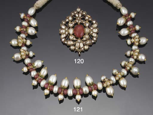 A 19th century Indian, ruby an