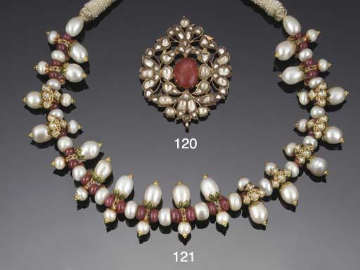 An Indian cultured pearl, diam