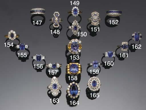 An Art Deco sapphire and diamo